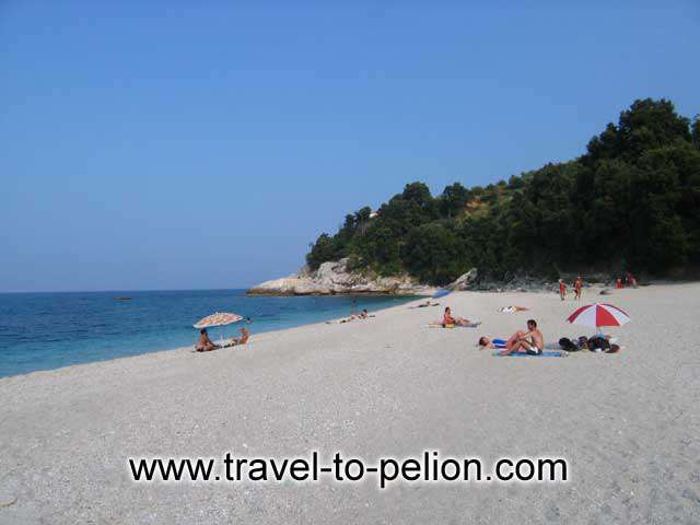 Papa Nero is the beach south of Agios Ioannis. Long, white sandy beach with crystal clear water.